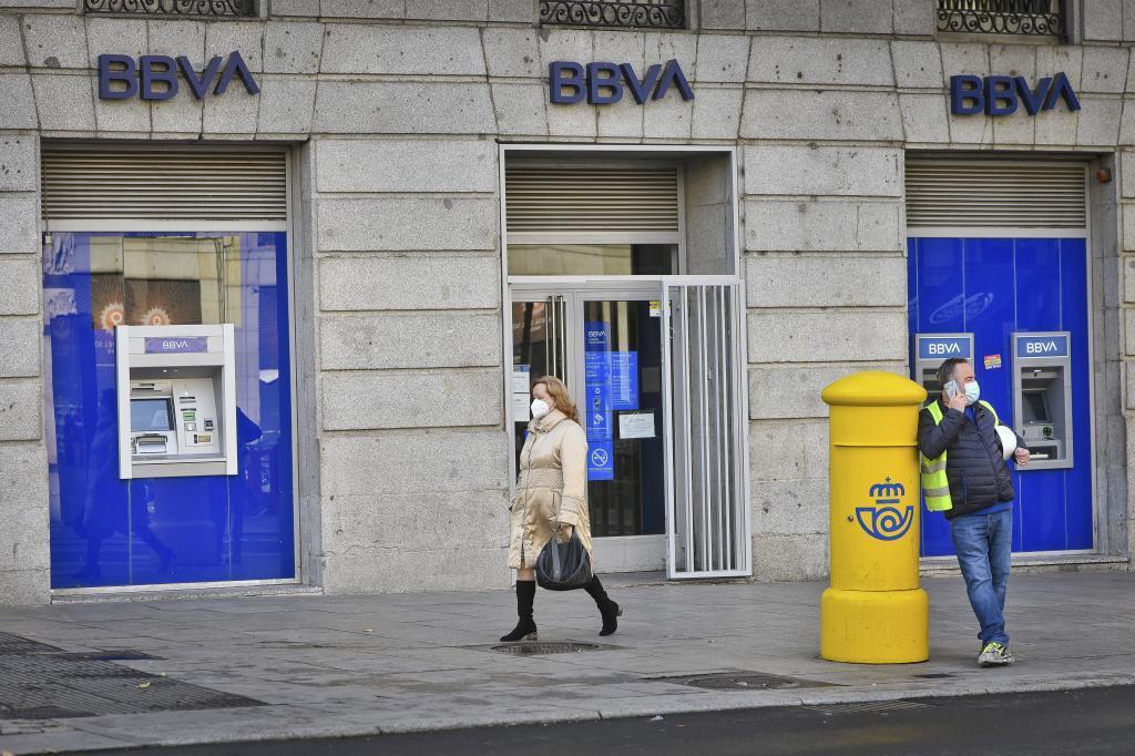 Oficina de BBVA en Madrid.