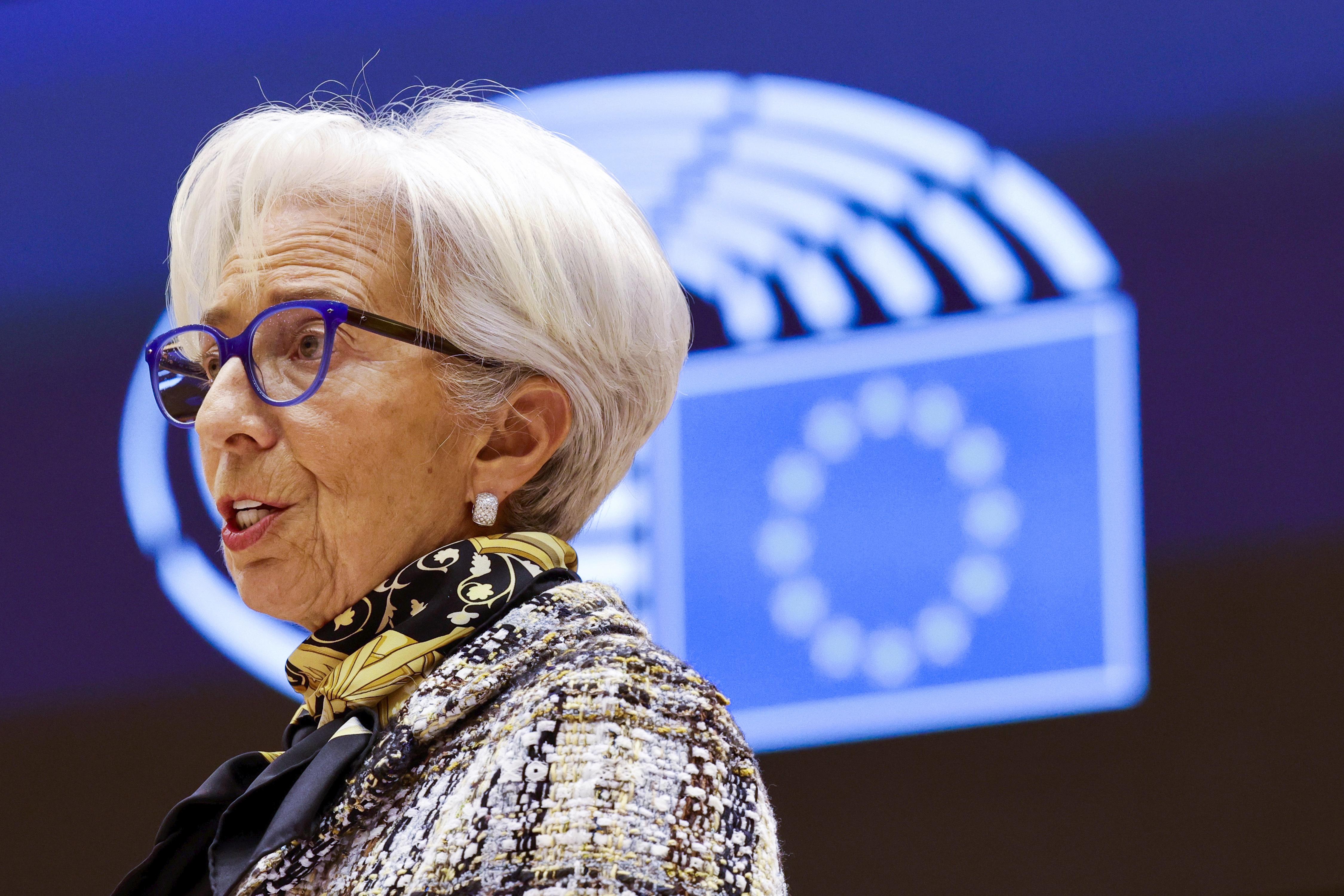 La presidenta del BCE, Christina Lagarde, en una imagen de febrero.