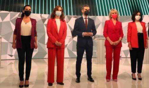 Participantes en el debate preelectoral del 4-M