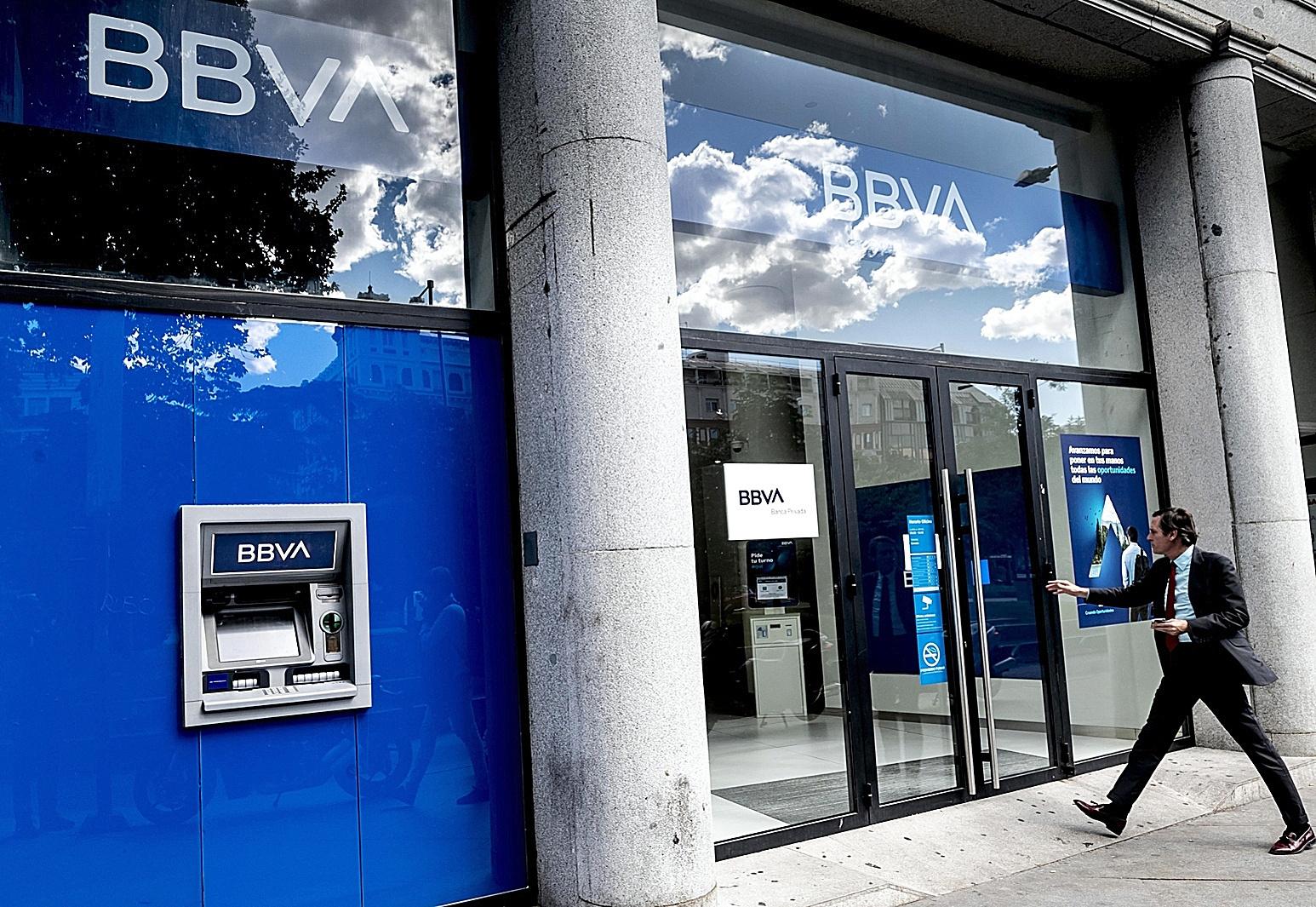 Sucursal de BBVA en Madrid.