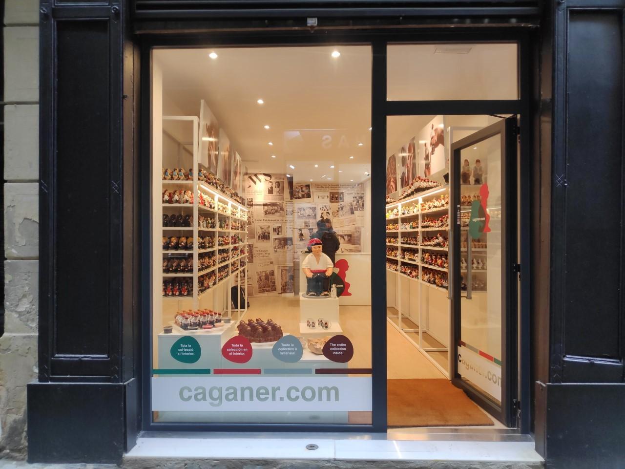 La nueva tienda de Caganer.com en el centro de Barcelona.