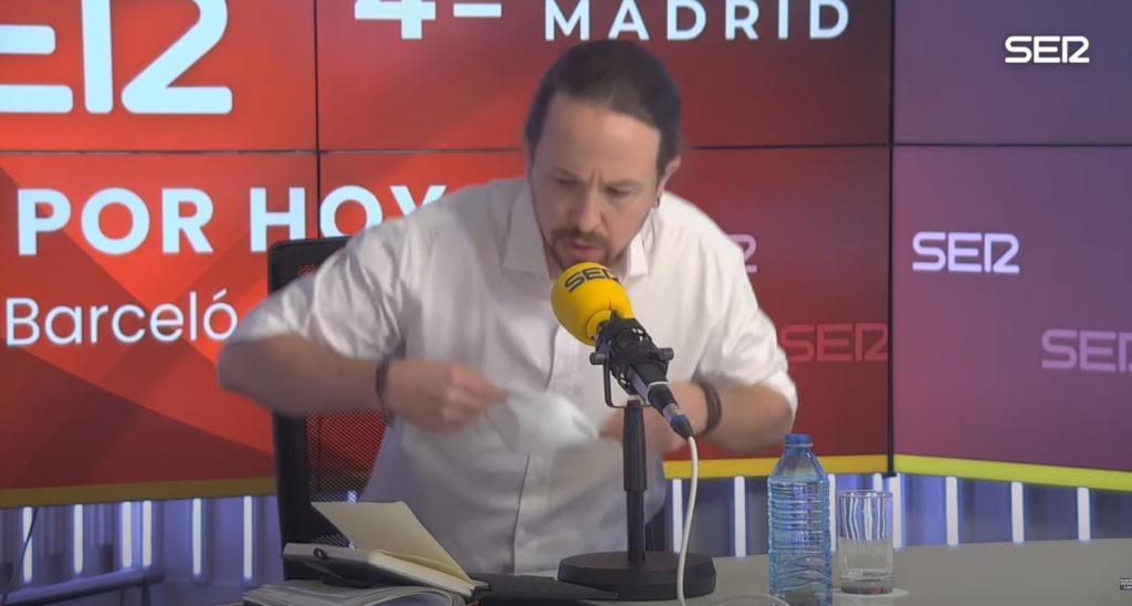 Pablo Iglesias, al abandonar el debate en la Ser.