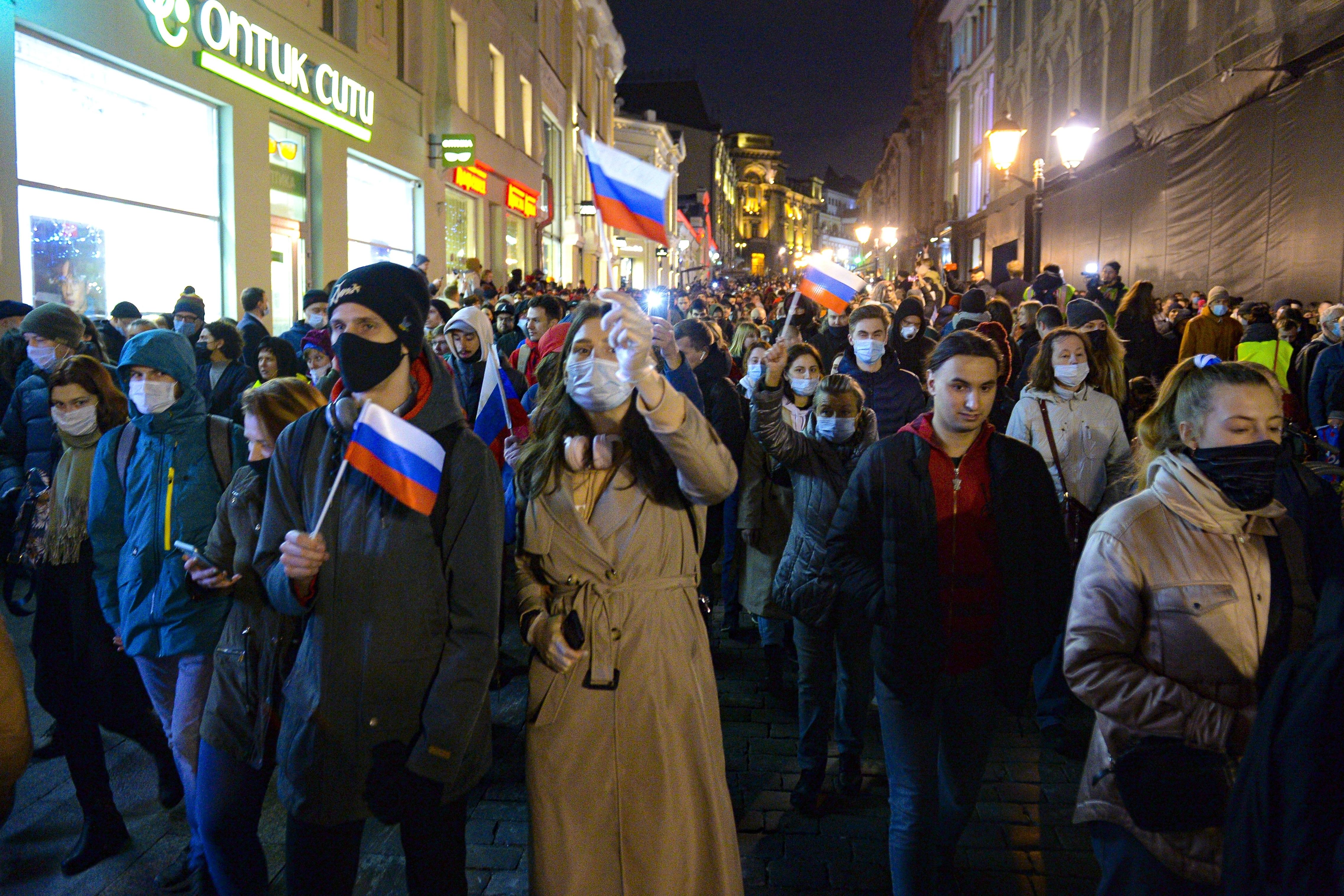 Manifestación en apoyo a la oposición rusa.