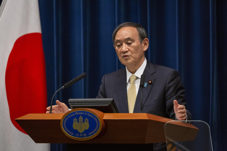 El primer ministro de Japón, Yoshihide Suga, este viernes.