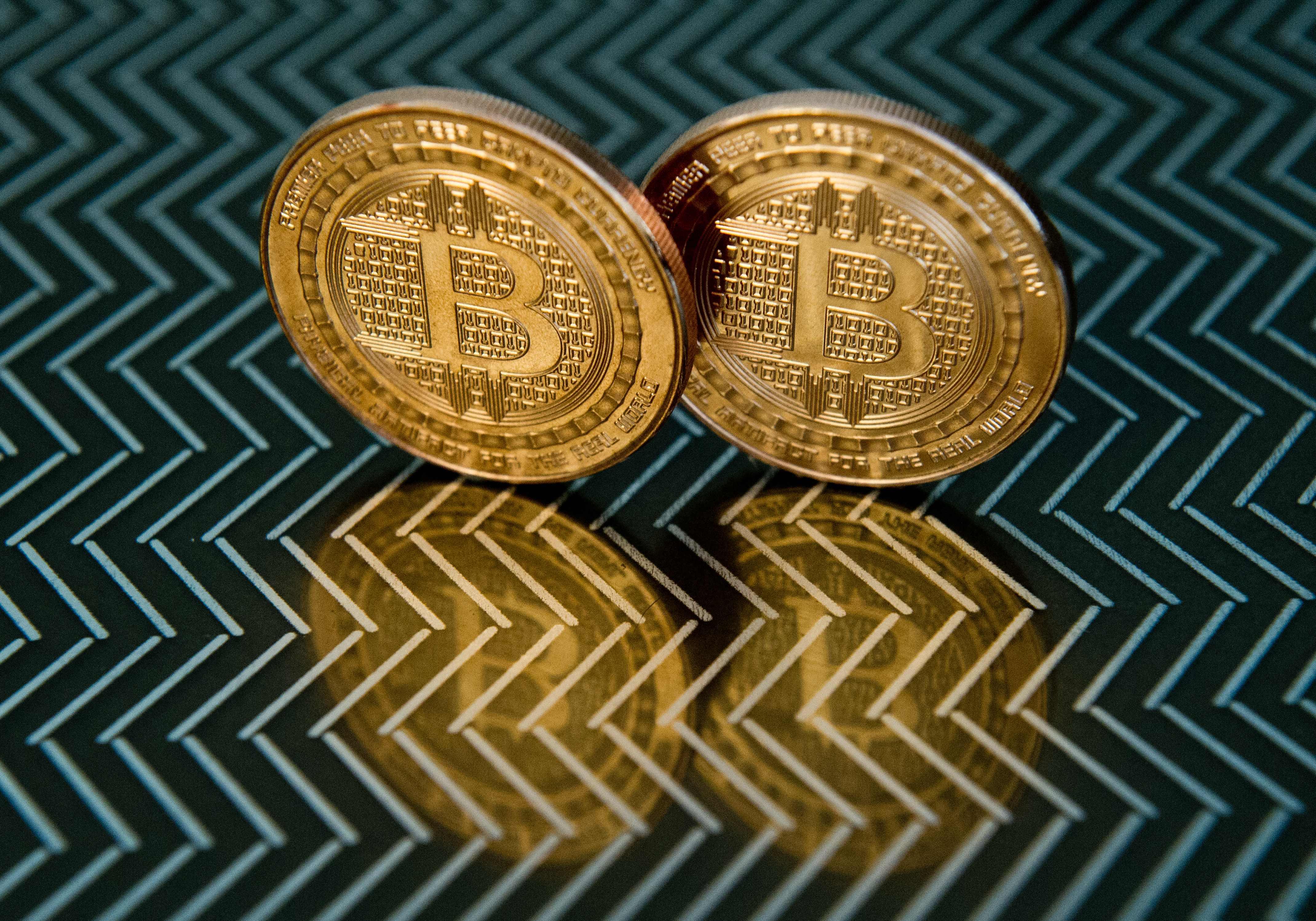 Representación virtual de bitcoins.