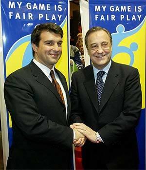 Imagen de archivo de Laporta y Florentino Pérez.