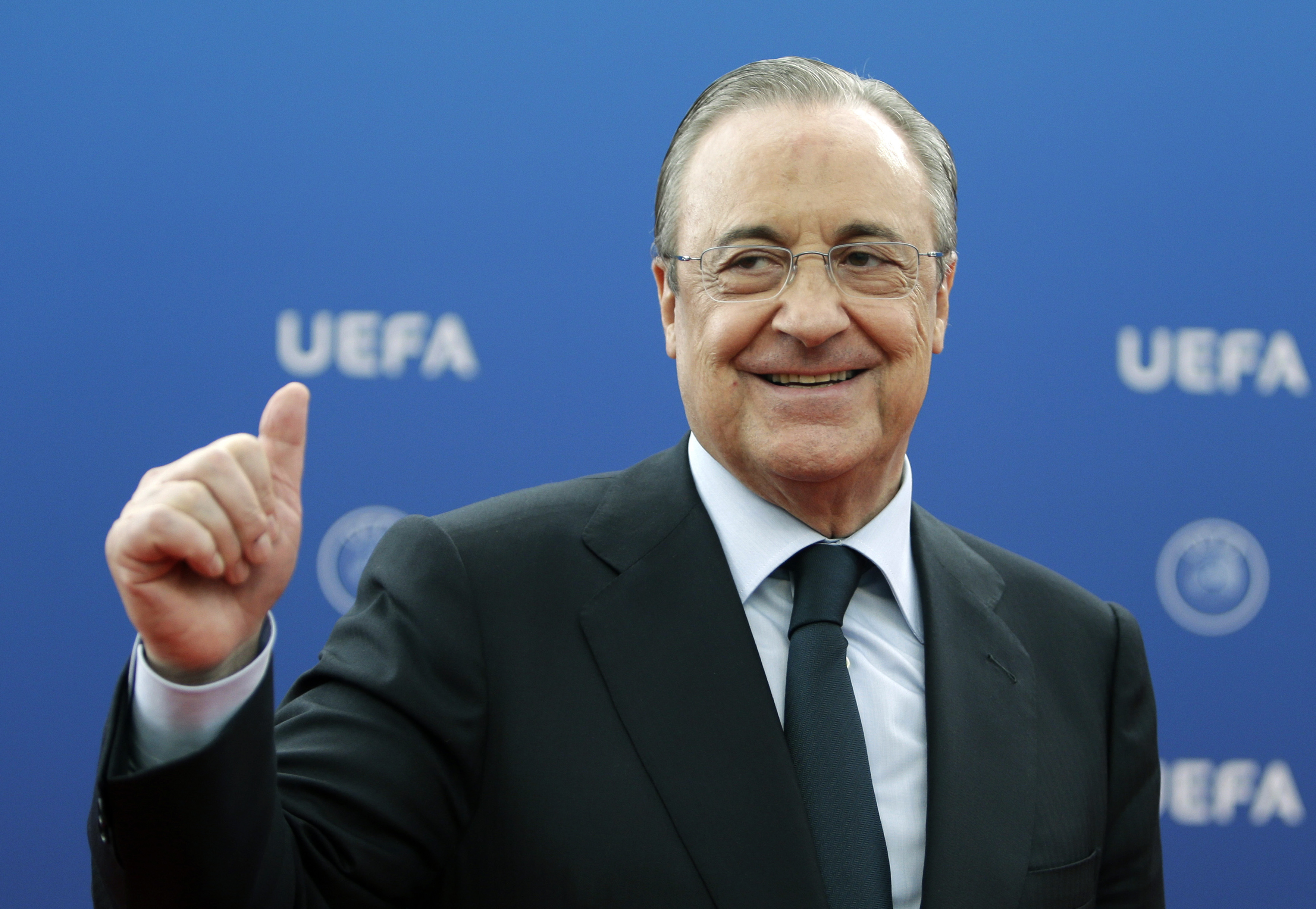 Florentino Pérez, en un acto de la UEFA.