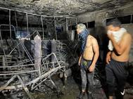 El interior del hospital tras el incendio