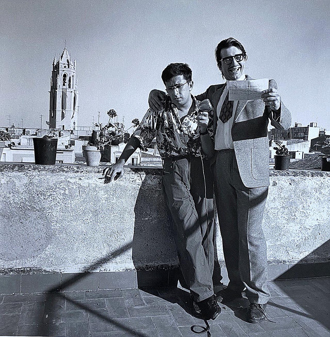 Andreu Buenafuente, a la izquierda, en sus inicios en Radio Reus