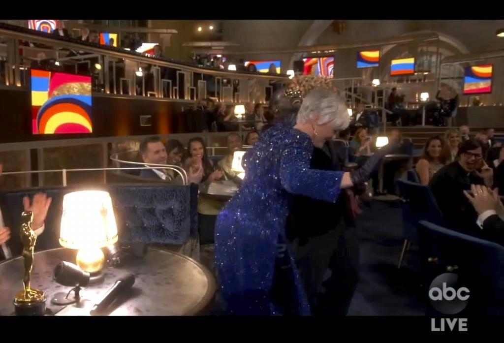 Glenn Close and his dance at the Oscars