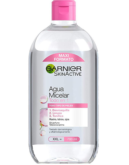 Skin Active, Agua Micelar Clásica, de Garnier.