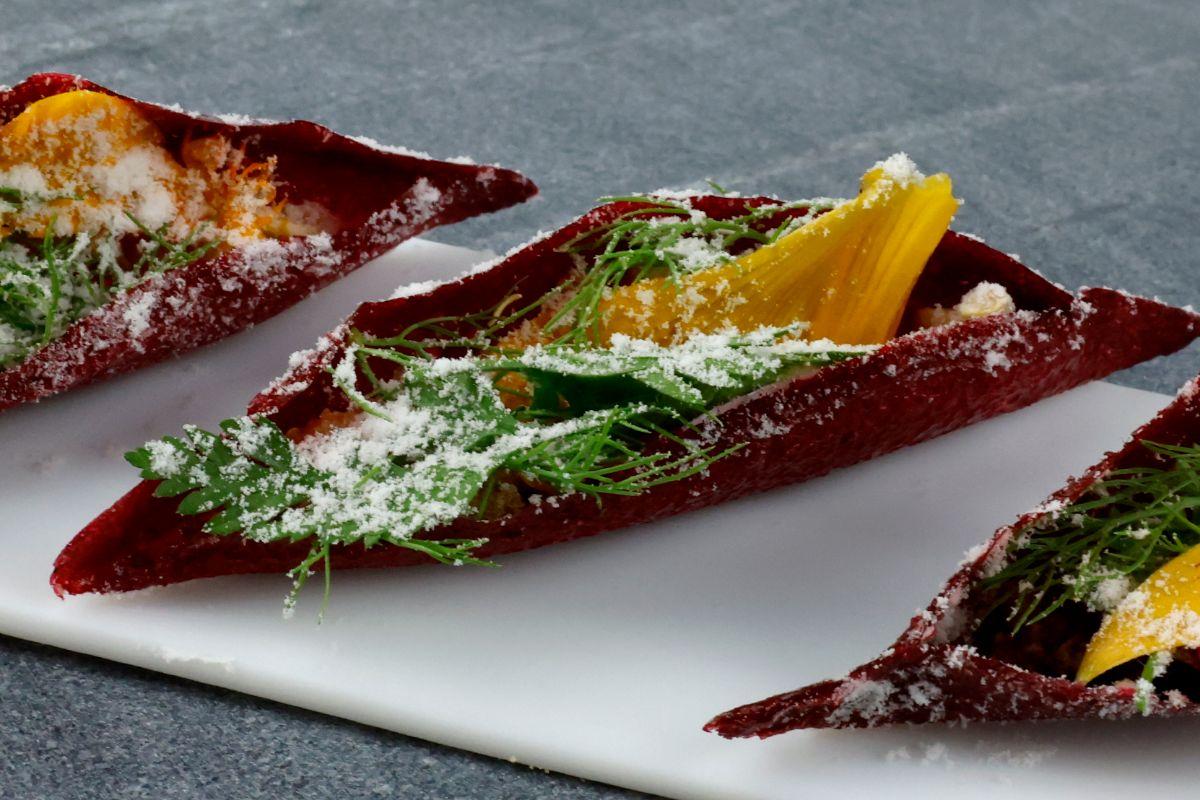 Uno de los platos que ha preparado Albert Adrià para sus clases magistrales.