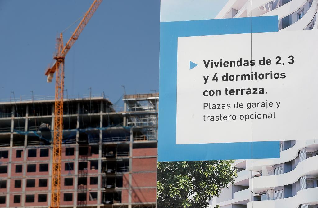 Promoción de viviendas nuevas en Valencia.