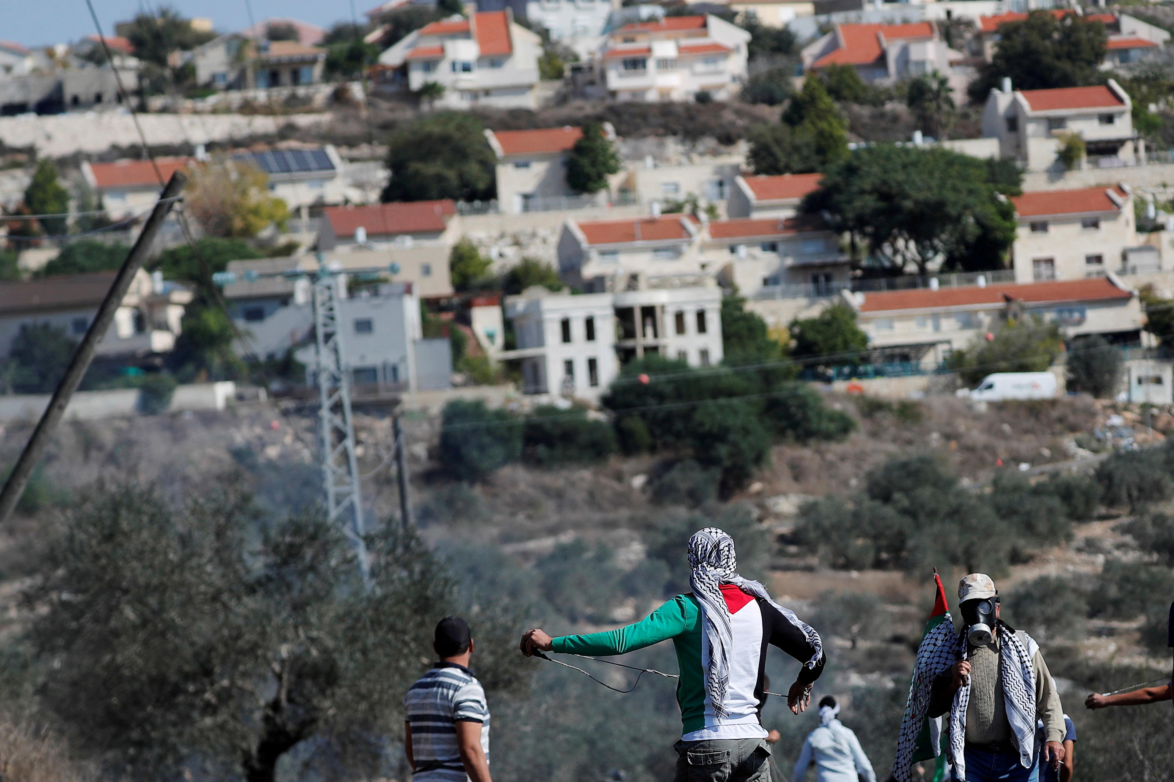 Palestinos en territorio ocupado por Israel.