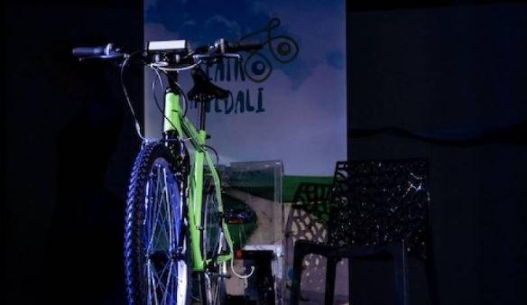 Una de las bicicletas del espectáculo 'Teatro a pedales'.