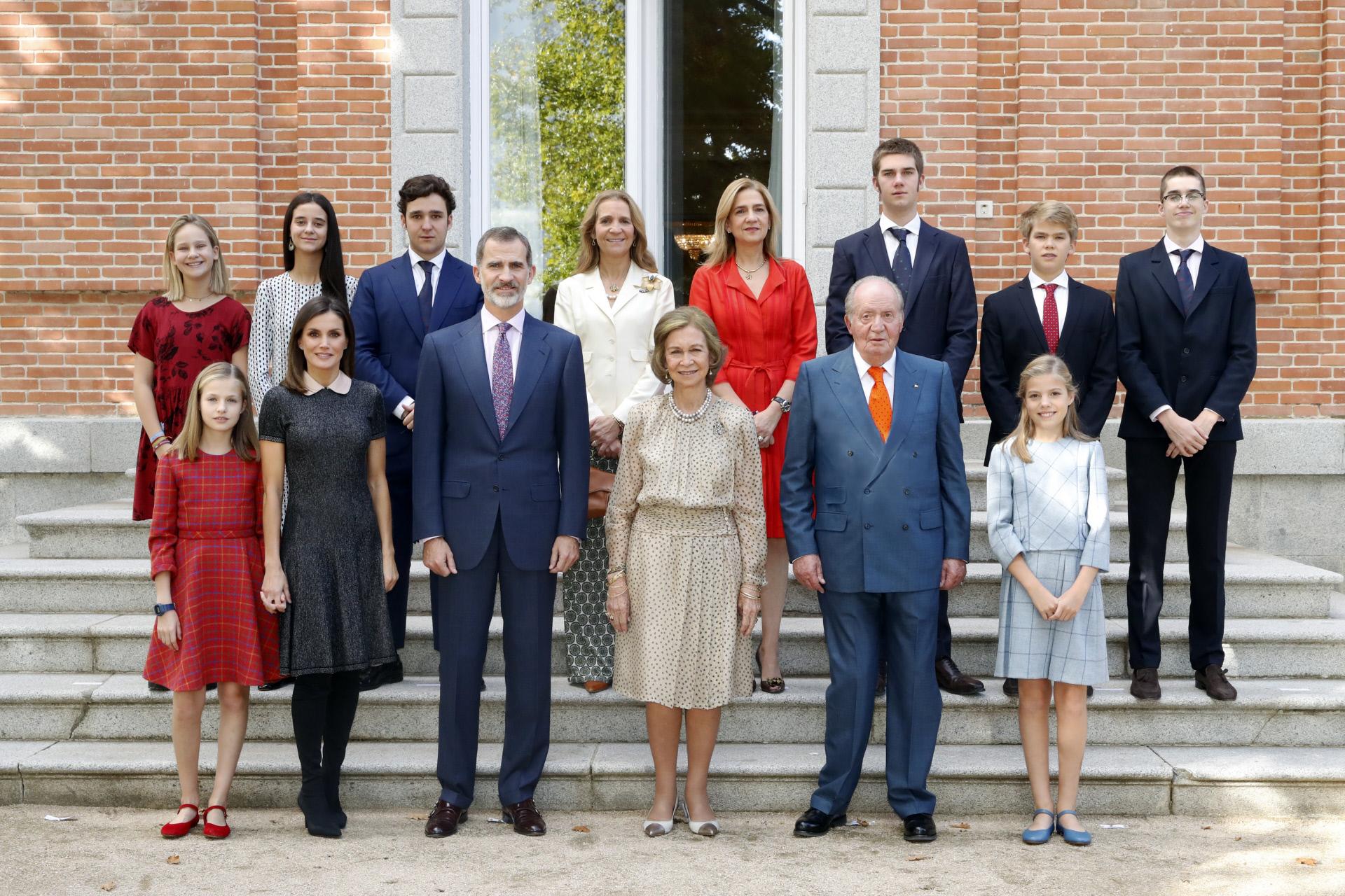 Foto familiar de la familia del Rey y la Familia Real por el 80 cumpleaños de Doña Sofía.