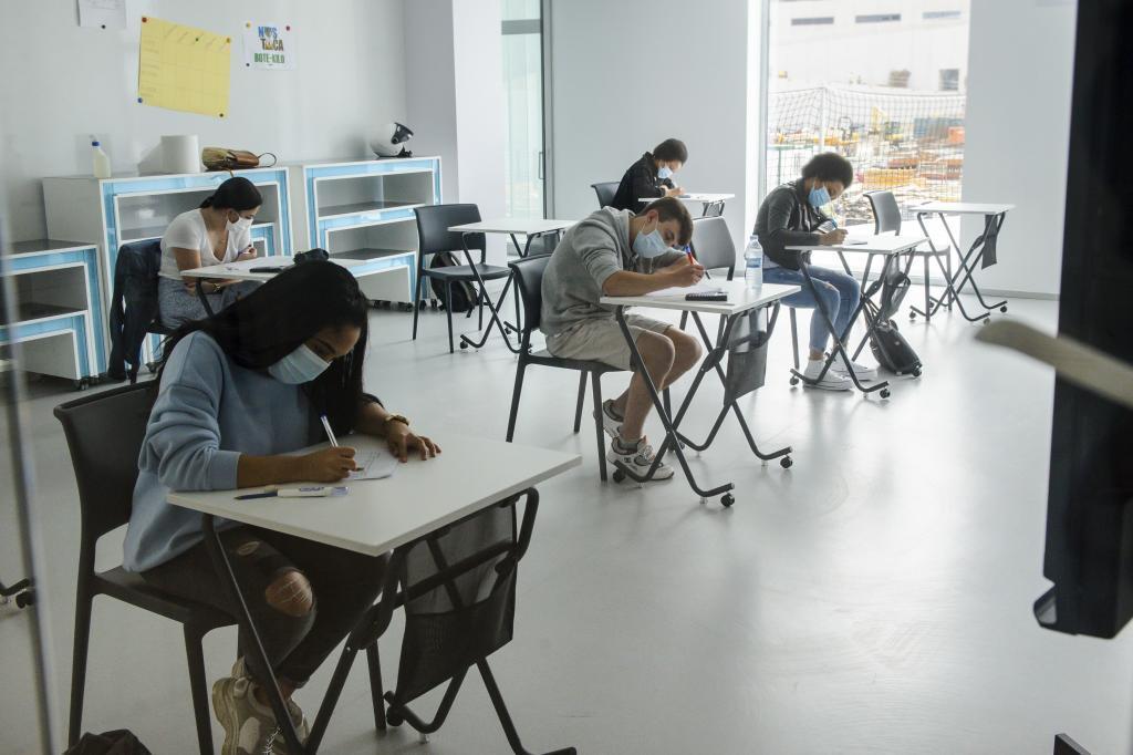 Alumnos de un centro del País Vasco.