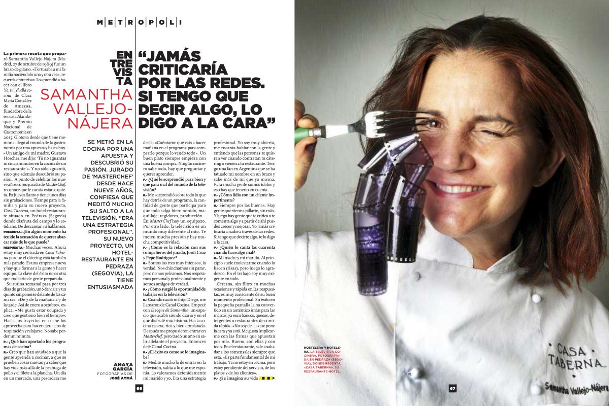 Entrevista a Samantha Vallejo-Nájera.