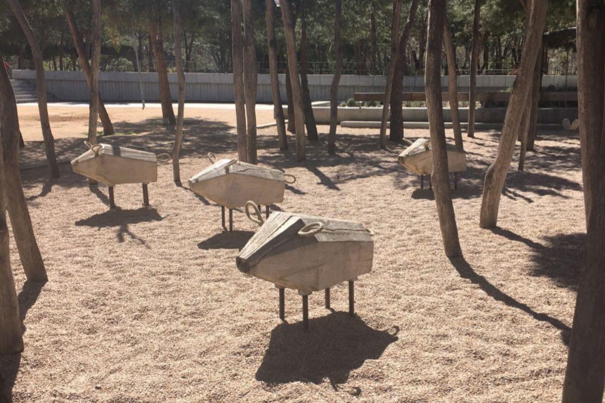 Parque de los Jabalíes del Salón de los Pinos.