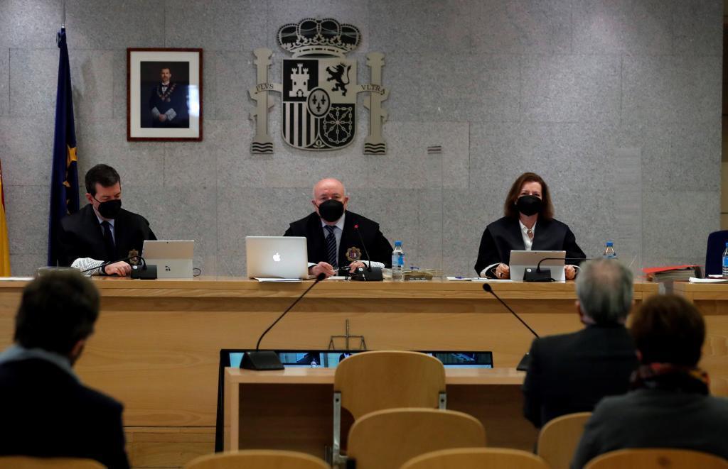 El tribunal del juicio de la 'caja B' del PP.