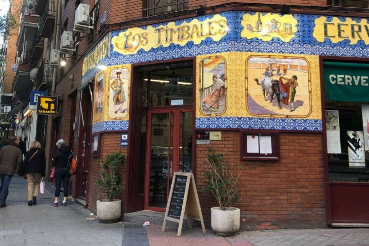 La fachada de Los Timbales.