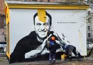 Pintada de Navalny en San Petersburgo.