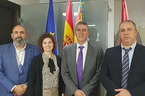 María Dolores Parra, Rafael Climent y Hicham Housni.