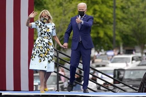 Jill Biden vestido Oscar de la Renta Meghan Markel