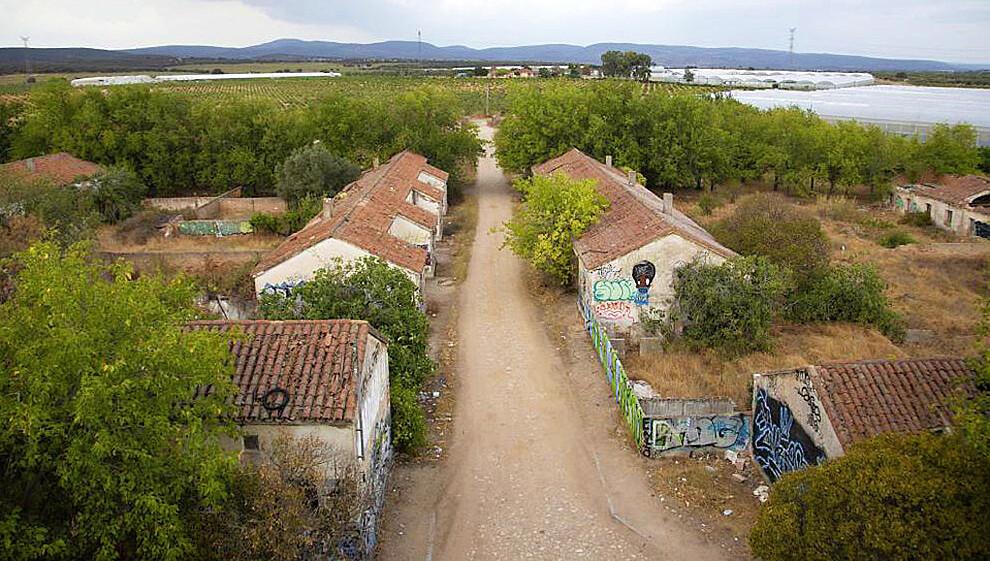 El pueblo abandonado de El Alamín.