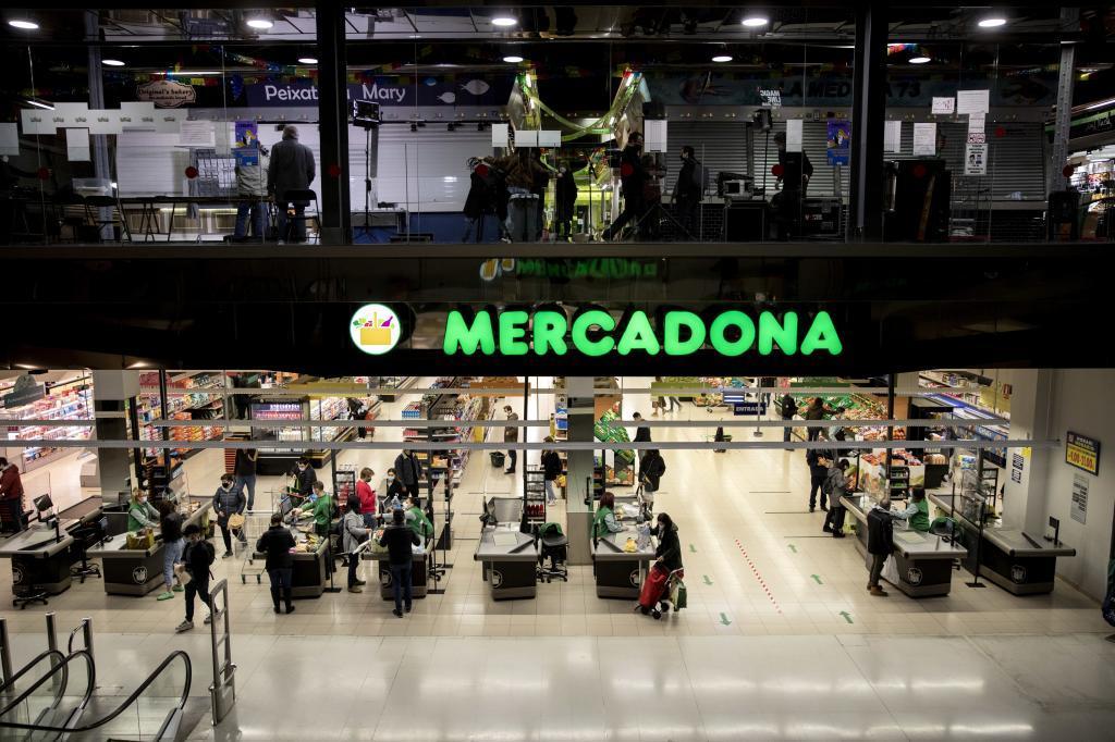 Supermercado de Mercadona en Barcelona.
