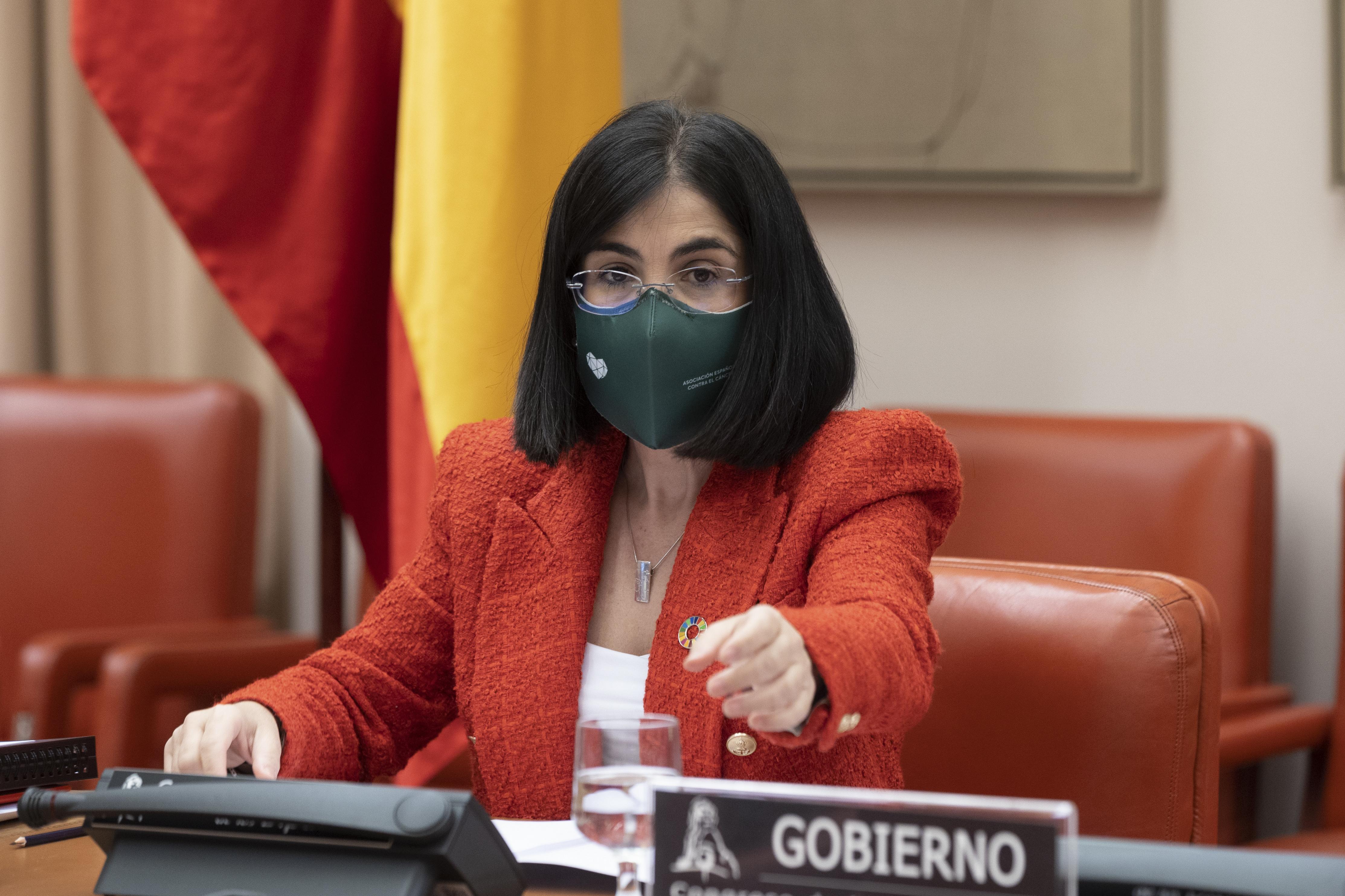 Carolina Darias, el jueves en la Comisión de Sanidad y consumo en el Congreso.