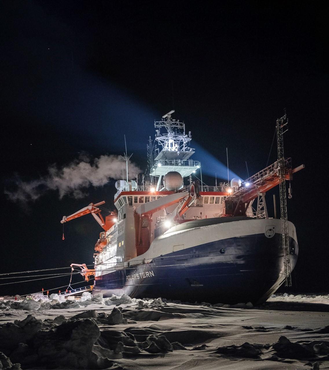 El rompehielos 'Polarstern' utilizado en la expedición científica MOSAIC