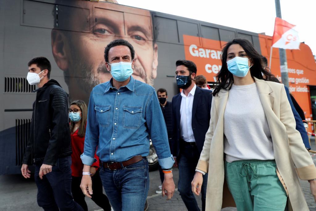 Edmundo Bal e Inés Arrimadas, en un acto de Ciudadanos.