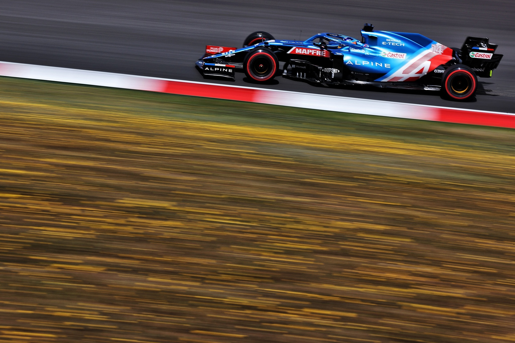 Alonso, durante la sesión clasificatoria del sábado en Portimao.