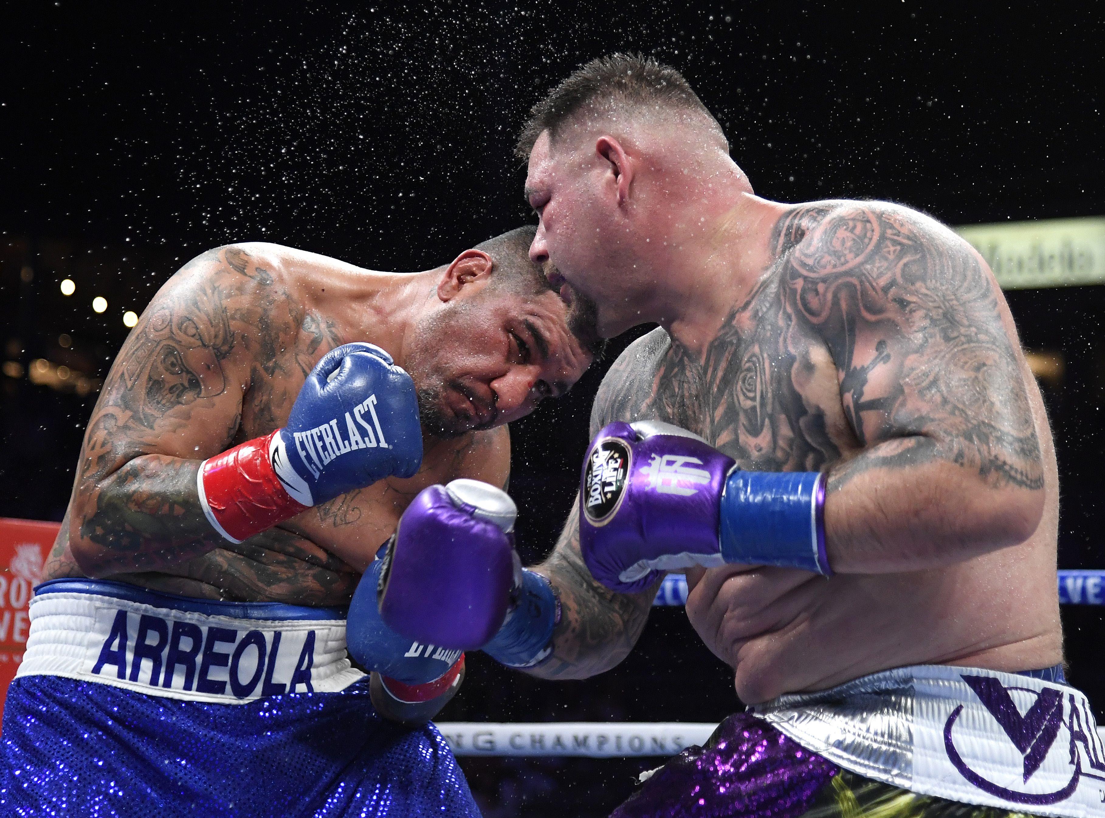 Andy Ruiz, durante su combate ante Arreola.