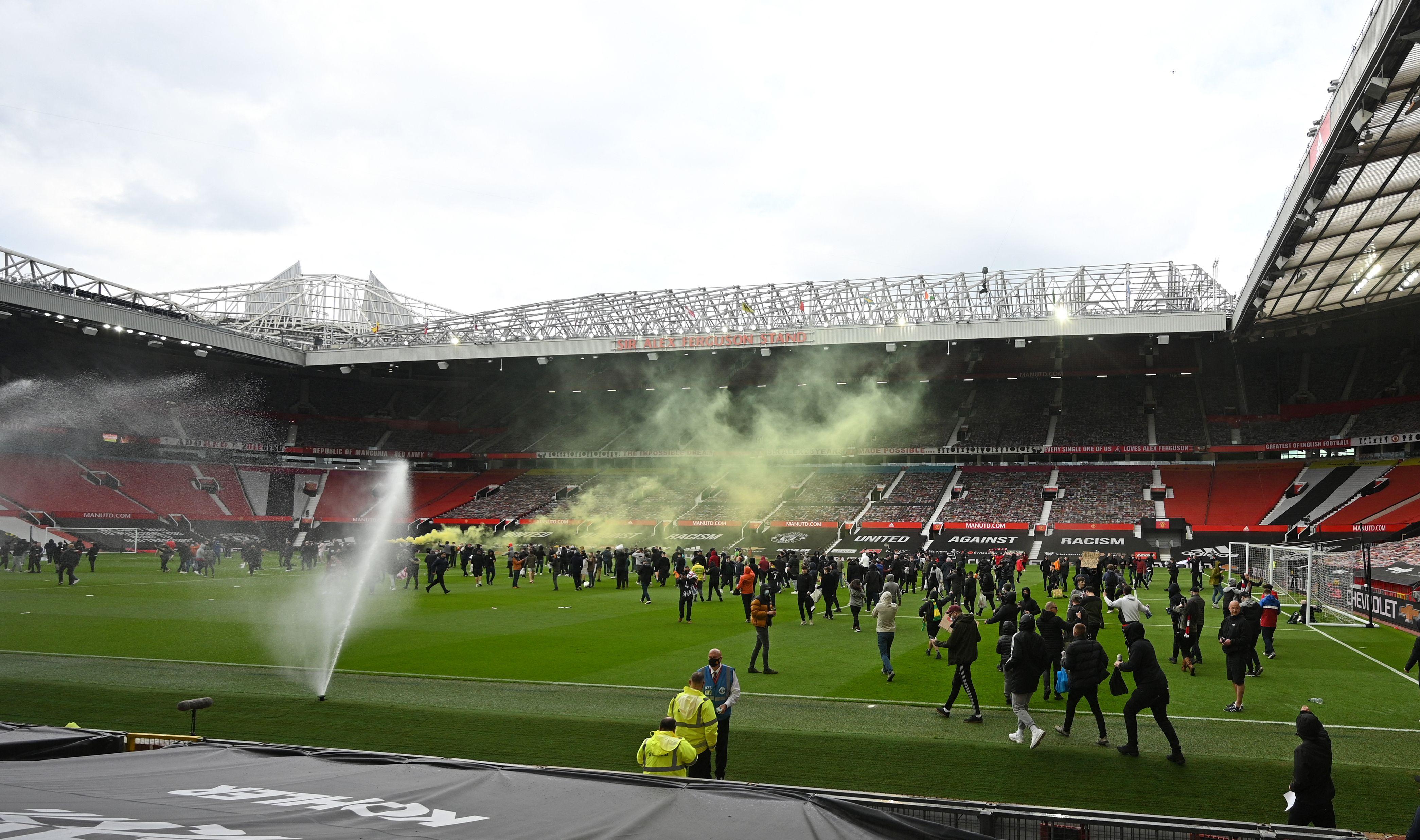 Aficionados en Old Trafford.