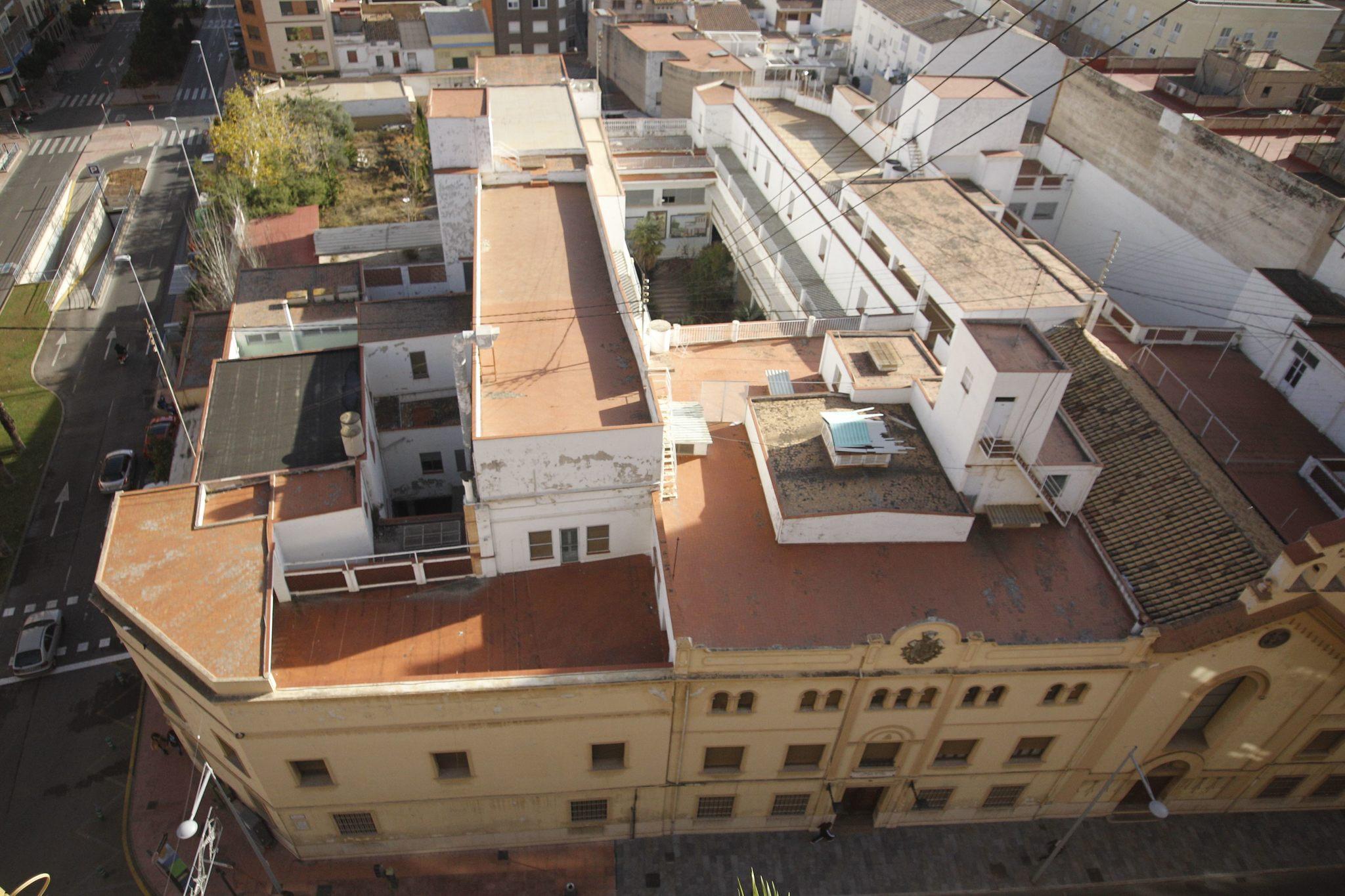 Vistá aérea del asilo sobre el que se han vuelto a poner las miras para construir un nuevo ayuntamiento.