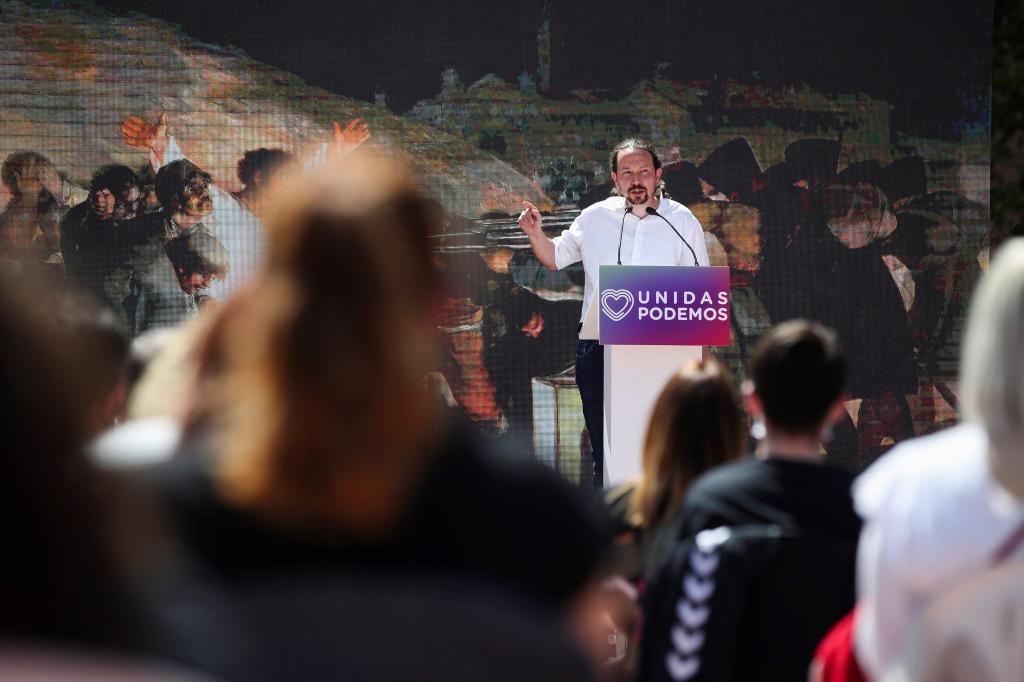 Pablo Iglesias, en el mitin de Podemos.