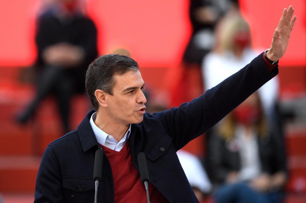 Pedro Sánchez, en el cierre de campaña del PSOE.