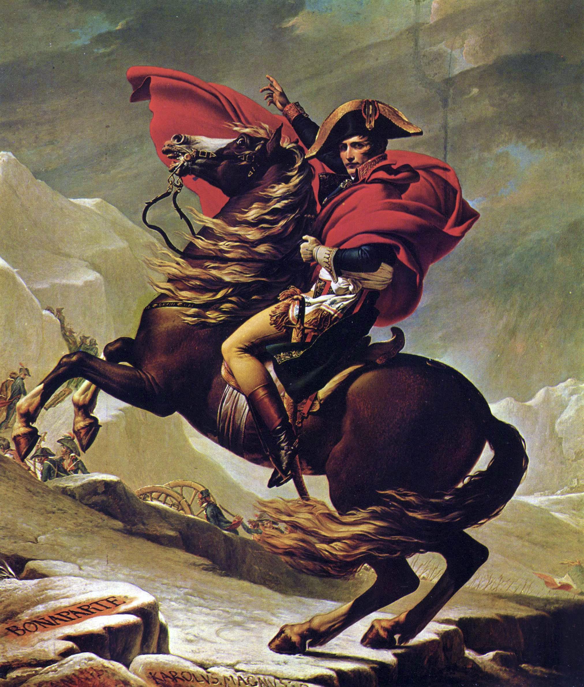 'Napoleón cruza los Alpes' (1801), de Jacques-Louis David