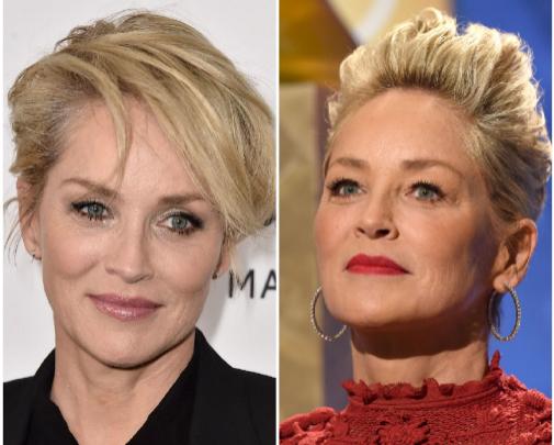 Sharon Stone es la reina de los cortes cortitos, les saca partido como nadie.