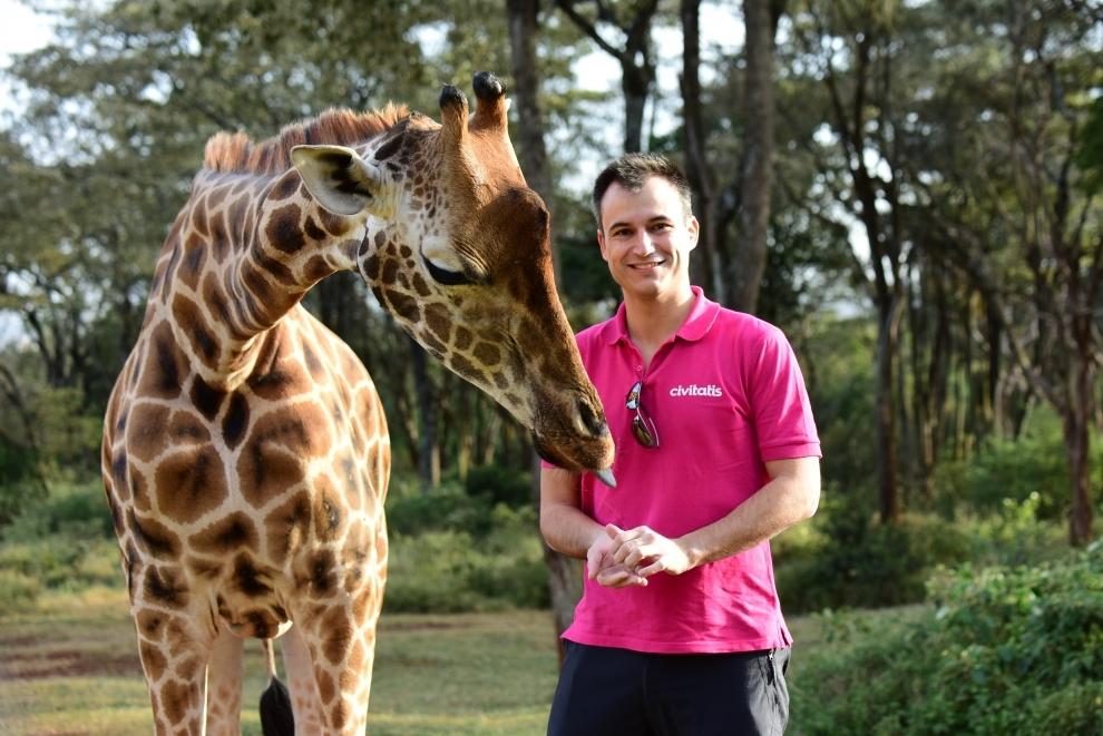 Gutiérrez durante un viaje a Kenia.
