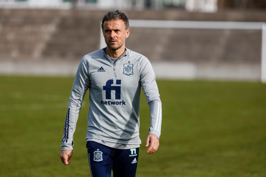 Luis Enrique, en un entrenamiento.