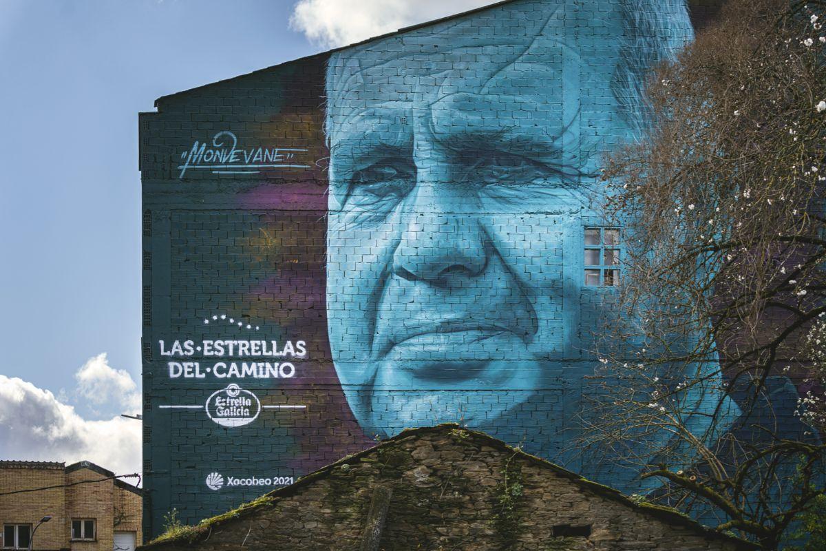 El mural de Mario Mato, en Sarria.