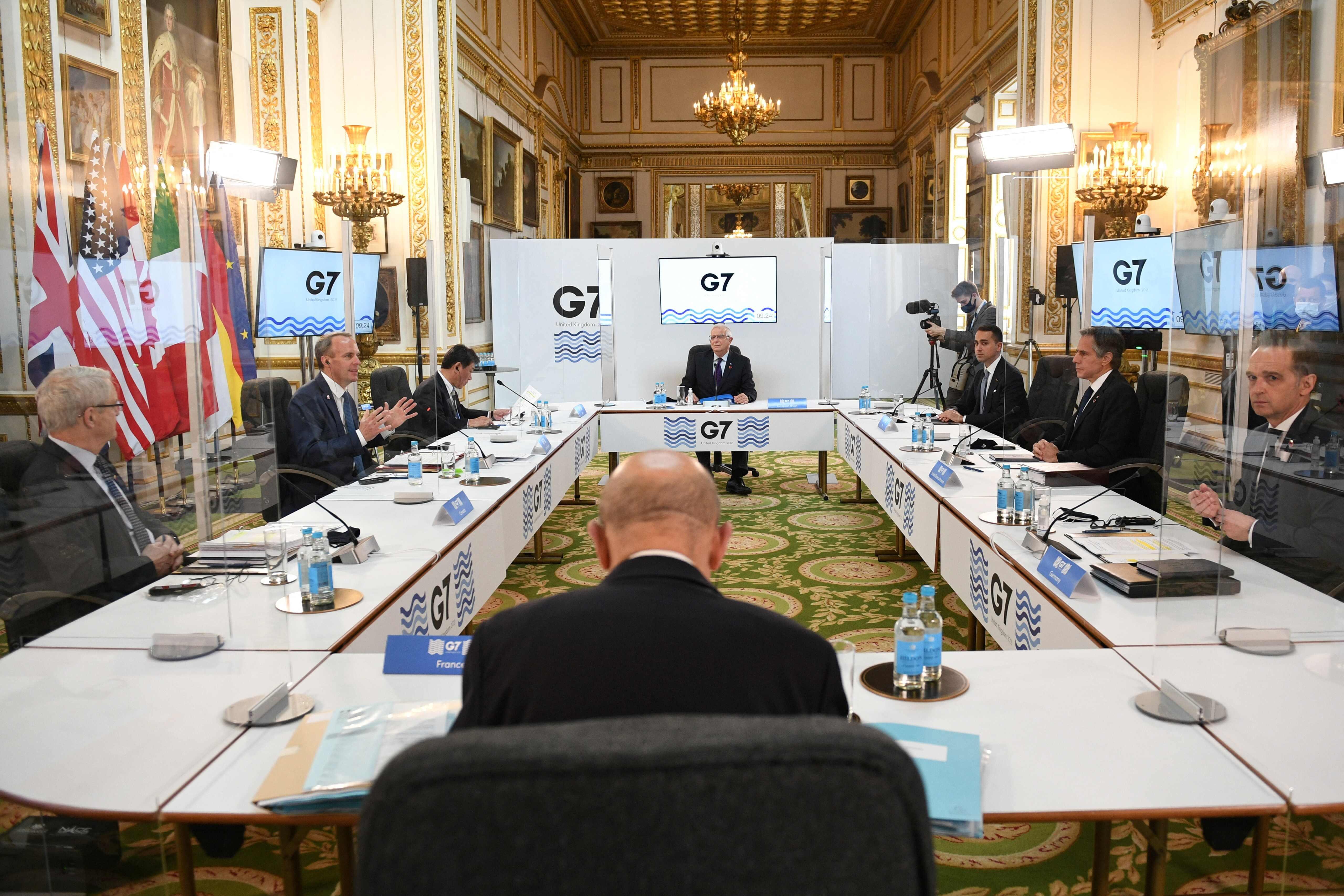 Reunión de ministros de Exteriores en el G7.