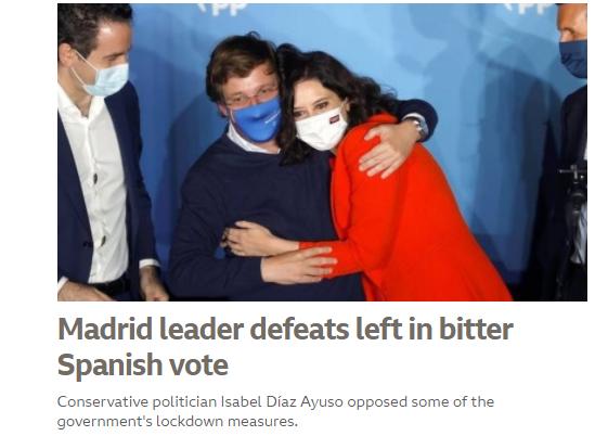 Imagen de la portada de Internacional en la web de la BBC