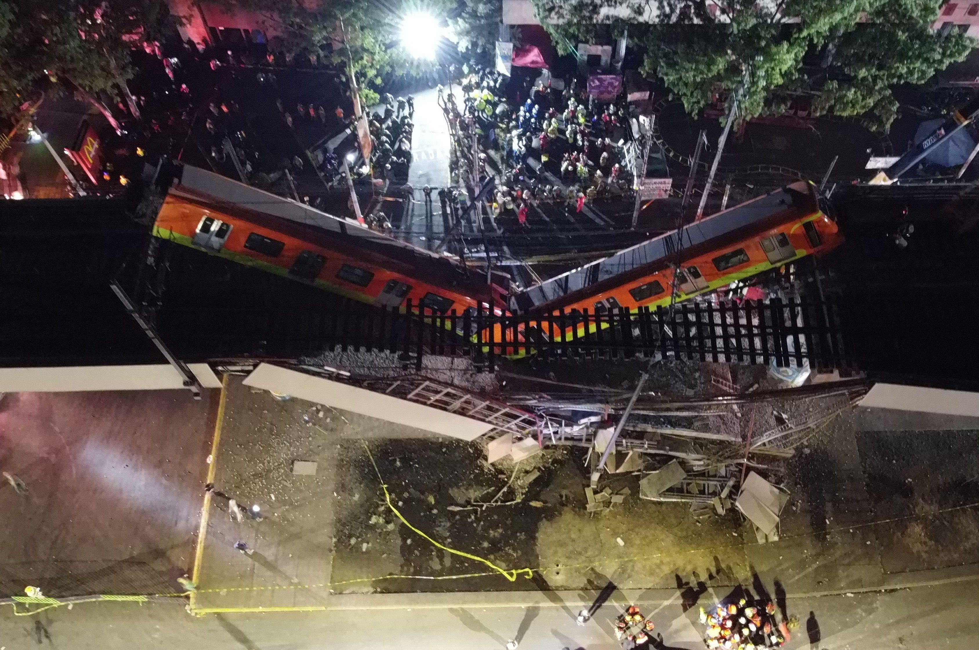 Accidente de la línea 12 de metro.