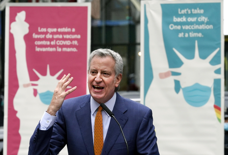 New York Mayor Bill de Blasio in a file image.
