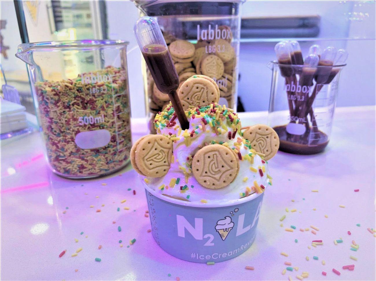 Los helados de N2 Lab se pueden personalizar casi por completo.