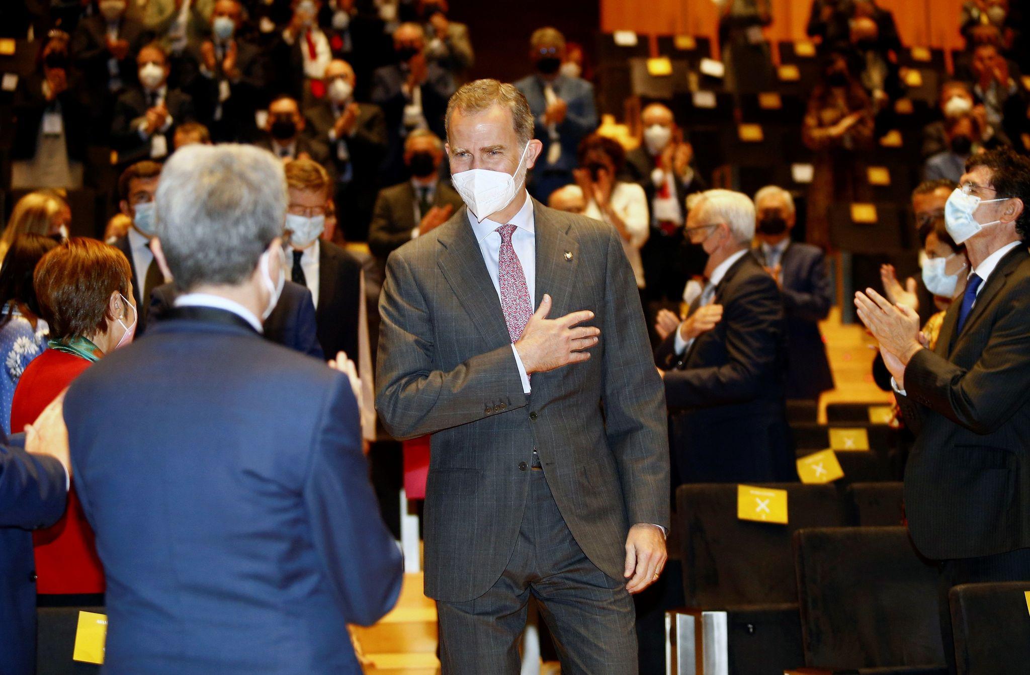 Felipe VI a su llegada al auditorio